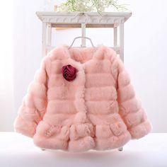 高品質暖かい子供服の女性の冬の子増粘アウター女児毛皮のコートオーバーコートの子上着(China (Mainland))
