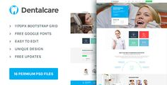 Dental Care : Health & Medical PSD Template by BCweb-themes Dental Care ¨C Health & Medical PSD Template. This template is very much suitable for all type of Dental services, Dental clinics or Dental doctors. We just focused on converting the visitors of the site to customers, We kept a fl