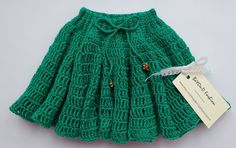 Green Skirt Crochet Cotton Baby Skirt Beyond by BeYOnDFashionStore