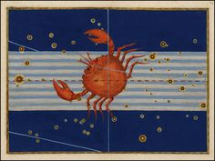 Cancer from Rare Book: Johann Bayer's Celestial Atlas, Augsburg / 1603