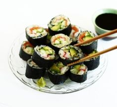 Brown Rice Maki Roll Sushi