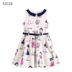 TZCZX 1 unids Partido muchachas de Los Niños Vestidos de la Marca de Estilo de Inglaterra de la Manera Fajas 100% Algodón Kids A Line vestidos de ropa en Vestidos de La madre y Los Niños en AliExpress.com | Alibaba Group