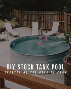 Let me start by saying that this project is not for the faint of heart. I don't mean to discourage anyone from doing this project, as lo. tank pool ideas DIY Stock Tank Pool: Everything You Need To Know Stock Pools, Stock Tank Pool, Backyard Projects, Outdoor Projects, Backyard Ideas, Do It Yourself Pool, Pool Diy, Pool Deck Decorations, Piscine Diy