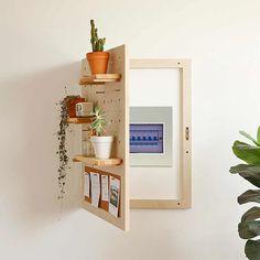 Diy Furniture, Furniture Design, Electric Box, Diy Casa, Bedroom Decor, Wall Decor, Wall Shelves, Woodworking Plans, Popular Woodworking
