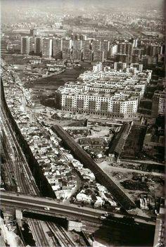 Urban sprawl next to slums in the in Barcelona Spain Barcelona Catalonia, Slums, Best Cities, Paris Skyline, City Photo, Urban, Architecture, World, Travel