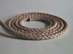 6mm Leather Braided Bolo Cord  Natural  2 Feet by IGraphicSupplies, $7.95