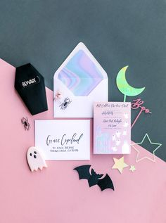 Pink and Black Super Cute Halloween Party Decorations with Golden Arrow Events + Design, Lovisa Photo, Sweet N' Saucy Shop, Star Bakes, Pirouette Paper, Creative Amme , Swoonful, The Coop OC, North Star Balloons + Qualatex, Daydream Society, Cherished Rentals
