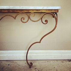 Swirly curly Vintage French console table / metal & marble / frenchfinds.co.uk #frenchstyle #frenchfurniture #vintage