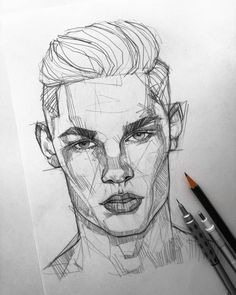 Face Sketch, Sketch Art, Portrait Sketches, Portrait Art, Boy Hair Drawing, Drawing Art, Hatch Drawing, Art Du Croquis, Art Advisor