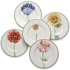 Villeroy & Boch Flora Assorted Salad   Plates found on Polyvore - Arts de la table - Villeroy & Boch