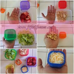 Portion control containers for the #21dayfix