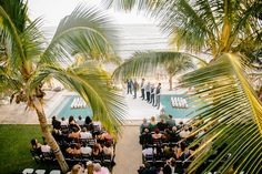 The ceremony took place above the pool with the Caribbean sea as the backdrop. Buzzworthy Events.