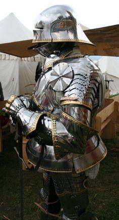 15th Century full gothic plate armor.