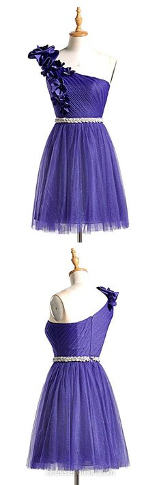 One Shoulder Homecoming Dresses, Short Cocktail Dresses, Purple Party Dresses, Cheap Prom Dresses, Cute Formal Dresses