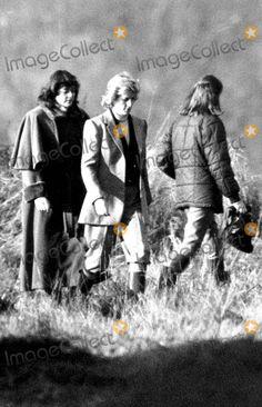 Nov 1987 Princess Diana joins the pheasant shooting party at the Sandringham Estate, Norfolk, Britain By:alpha-Globe Photos, Inc