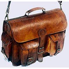 d1dfec268e Amazon.com: Kattee Vintage Leather Flapover Messenger Bag Fit 10