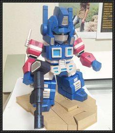 Transformers - SD Optimus Prime Free Papercraft Download - http://www.papercraftsquare.com/transformers-sd-optimus-prime-free-papercraft-download.html