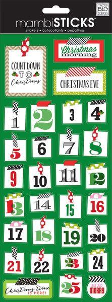 Christmas Washi Numbers