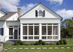 sunroom designs for a colonial home | Colonial - exterior view sun room