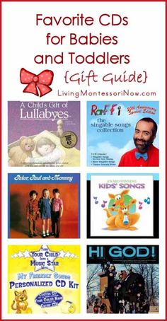 Well-loved classic and new music CDs (a gift guide for babies and toddlers although most of the CDs are great for preschoolers, too)