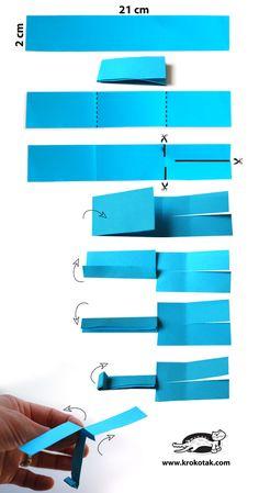 Helicóptero de papel de bricolaje