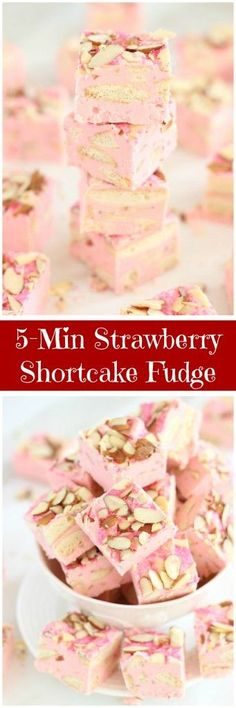 Sweet and crunchy Nilla wafer cookies, strawberry frosting, slivered almonds, and white chocolate chips come together in this super simple and fast fudge!
