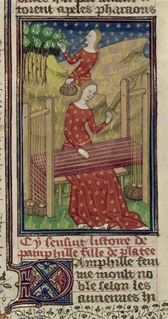 Pamphila - medieval woman weaving