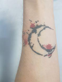 Blood moon tattoo
