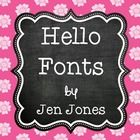 """""""The best things in life are free!""""   I'm pleased to offer all my Hello Fonts (28 fonts total) now in one nice, neat download.  These fonts (in .tt..."""