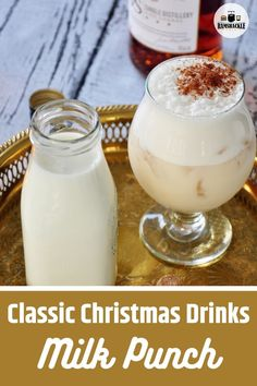 Classic Brandy Milk Punch Cocktail Recipe! It is luxurious, creamy, and a historic craft cocktail with great flavor. A fun holiday drink.