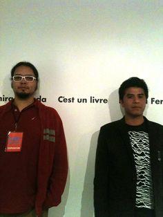 Fabián Guerrero y Tonatiuh Trejo, durante el Foro de Ediciones Contemporáneas del Museo Carrillo Gil, día 1 del laboratorio editorial Esto Es un Libro.