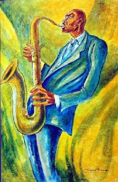 Study for Jazz by Ernie Barnes.