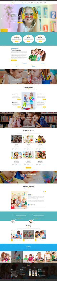 Multipurpose Business WordPress Theme for Pre-School on Behance