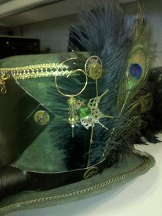 I created this Loki inspired Steam Punk hat