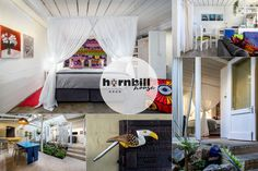 Apartment 6 @ Hornbill House in the Hemel-en-Aarde Village in Hermanus is ideally equipped to accommodate 2 to 4 guests maximum. Fully equipped for self catering the apartment has a private courtyard with BBQ. Kitchenette, Open Plan, Lodges, King Size, South Africa, Catering, Beach House, Bbq, The Unit