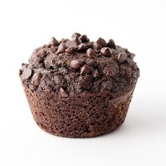 Low carb chocolate zucchini muffins made with coconut flour are gluten-free and perfect for a ketogenic diet. THM Sugar Free Zucchini Muffins, Low Carb Zucchini Bread, Zucchini Chocolate Chip Muffins, Keto Bread, Low Sugar Recipes, No Sugar Foods, Sugar Free Desserts, Keto Desserts, Keto Recipes