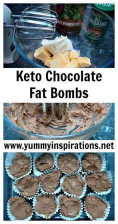 Chocolate Fat Bombs Recipe - Low Carb Keto Diet Fat Bomb Recipe