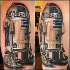 R2D2 Tattoo by Nikko Hurtado - I would never but WOW. Got to love R2...