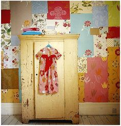 patchwork wallpaper für's Kinderzimmer