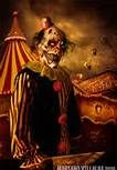 Creepy Clown with Machete Art   Kind of Creepy