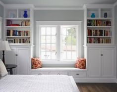 create a window seat w/ built-ins instead of exterior wall.