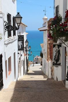 Spain: where the walk to the beach is just as enjoyable as the beach itself.