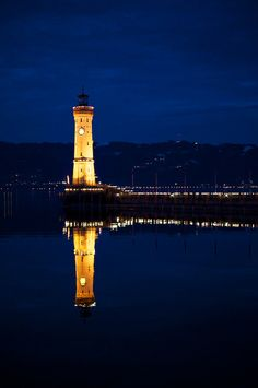 Harbor of Lindau #Lighthouse, #Germany http://www.flickr.com/photos/alexsaurel/6492030653/