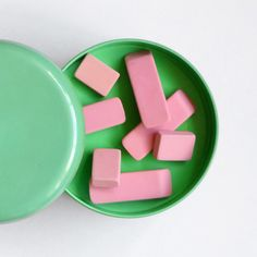 Pink & green.