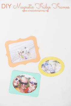 DIY Magnetic Fridge Frames made with the Silhouette