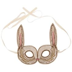 Hop along in style with our new Bunny Mask! What makes these masks so special is that they are in fact mirror images that meet to make the outline of the actual animal's face. A unique design - this m