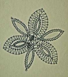 Hojas de guipur. Un blog desde Bohemia.: Picado flor: