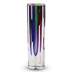 "HELENA TYNELL - A crystal vase ""Revontuli"" (Northern Lights) for Riihimäen Lasi Oy, Finland. Glass Design, Design Art, Crystal Vase, Modern Contemporary, Scandinavian, Glass Art, Retro Vintage, Northern Lights, Colours"