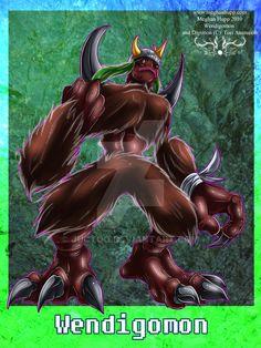 Digimon: Wendigomon by Juctoo on DeviantArt