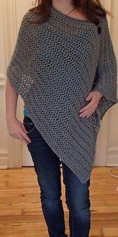 Ravelry: Zratha's Grey Crocheted Poncho
